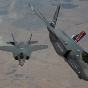 Photo left: F-35A deployed to North Europe for the first time.
